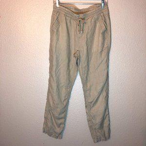 Stylus Khaki Linen Pants Sz PS